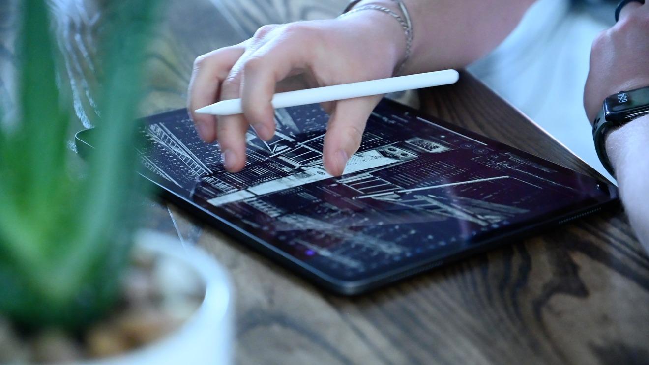 Apple Pencil второго поколения с iPad Pro 2020