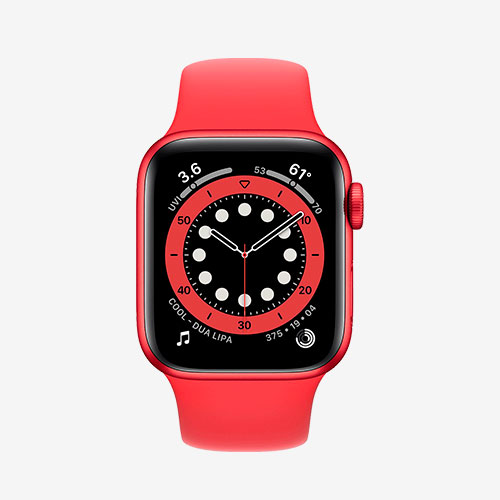 Часы Apple Watch 6 red